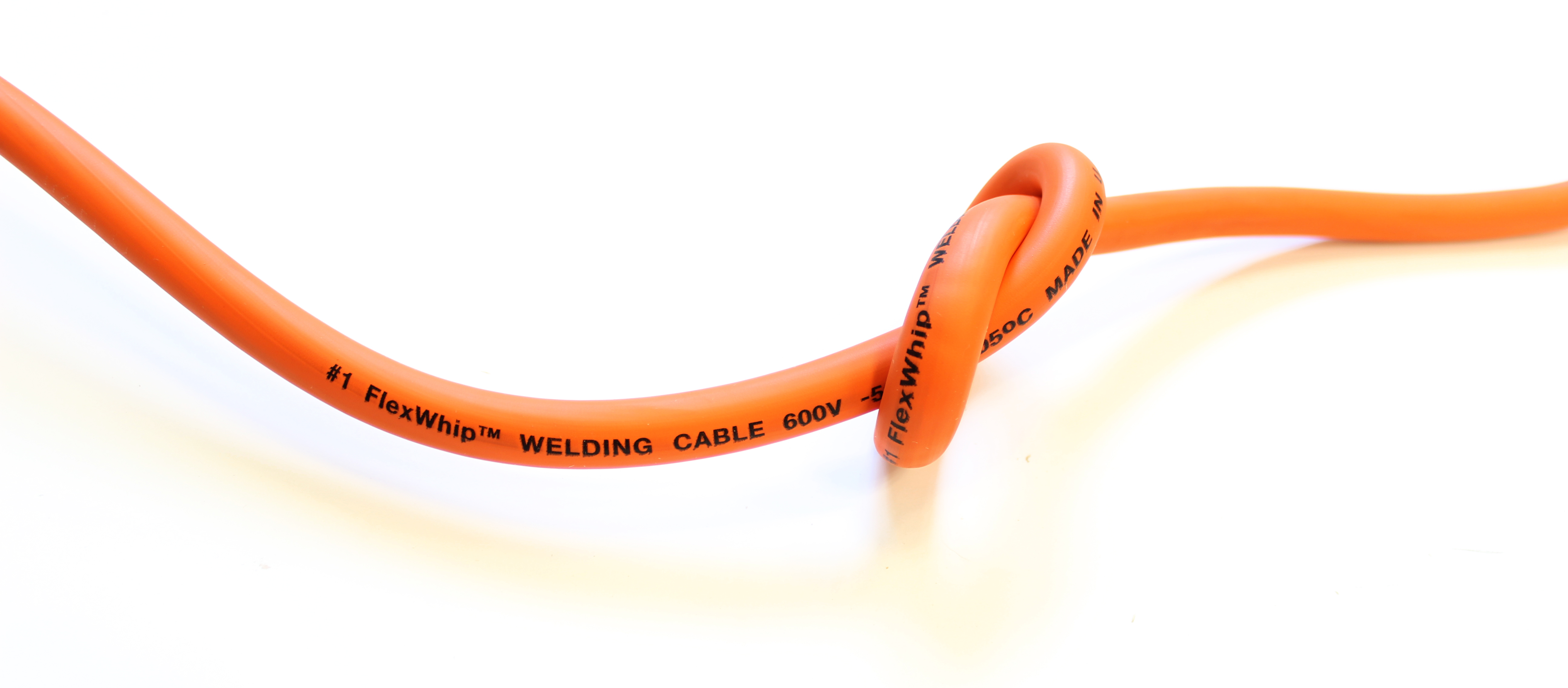 25/' #2 HIGHLY FLEXIBLE WELDING WHIP CABLE ORANGE 600V USA MADE EPDM COPPER AWG